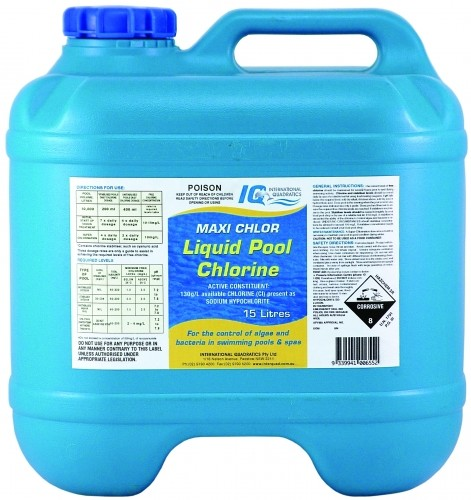 Liquid chlorine - Protection from chlorine in swimming pool ...