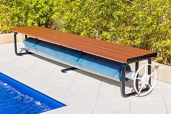 Pool Cover Rollers Daisy Under Bench Roller Large
