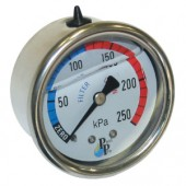 Pressure Gauge S/S Oil Centre Mount Back