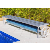 Daisy Under Bench Pool Roller Small Clear Anodised Aluminum