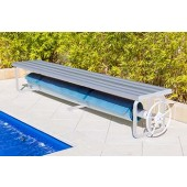 Daisy Under Bench Roller Large Clear Anodised Aluminum