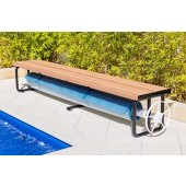 Daisy Under Bench Pool Cover Roller Small Light Oak