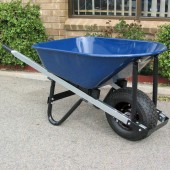Wheelbarrow - 7 Cubic Feet with Metal Tray & Wide Wheel