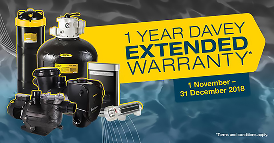 Davey Extended Warranty Promotion